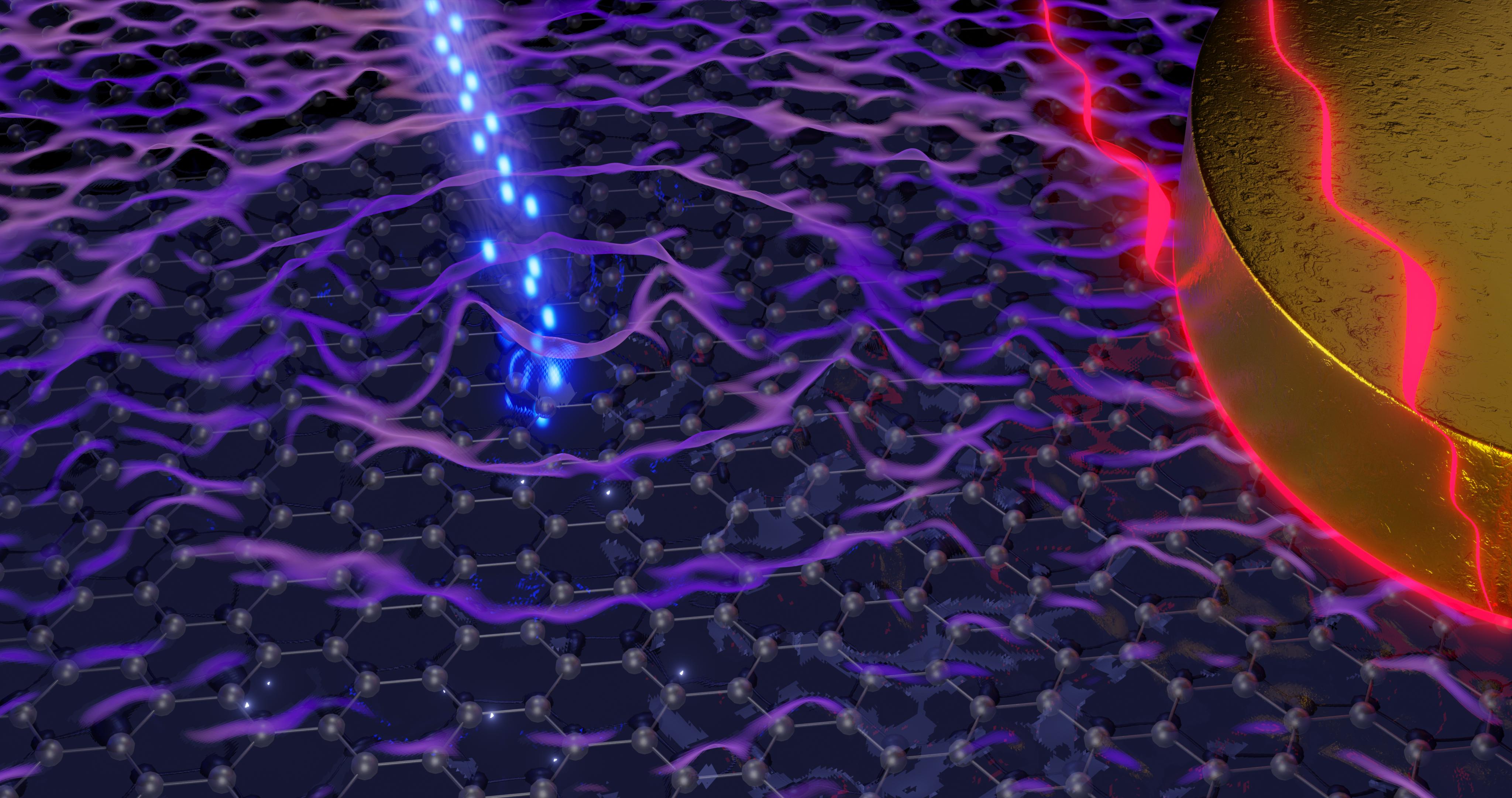 News & Views: Hot plasmons make graphene shine